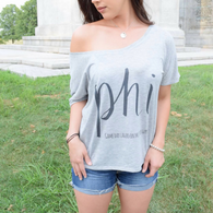 Philadelphia Women's Off-Shoulder/Slouch
