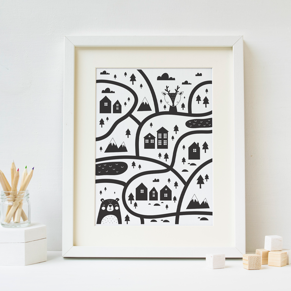 Scandinavian Style Map - PRINTS279