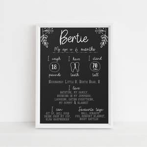 Personalised Birthday Board - Chalkboard Style