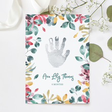 Load image into Gallery viewer, Personalised Foil Handprint Floral