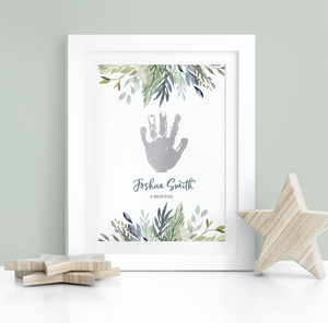 Personalised Foil Handprint Foliage