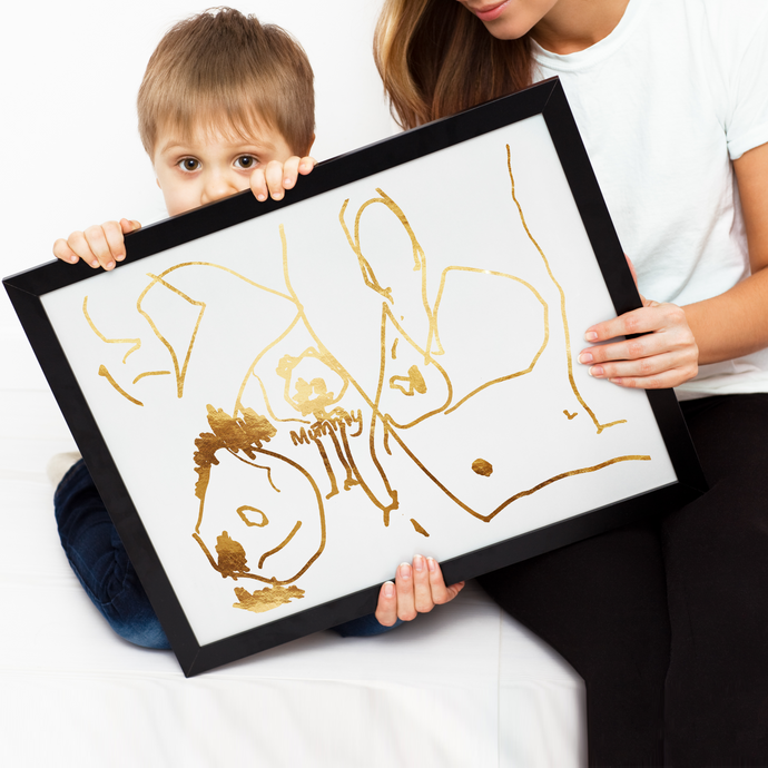Personalised Children's Drawing Artwork - PRINTS279