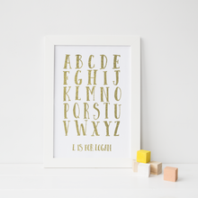 Load image into Gallery viewer, Personalised Alphabet - PRINTS279