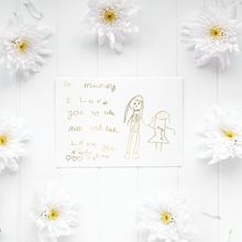 Load image into Gallery viewer, Personalised Children's Drawing Artwork - PRINTS279