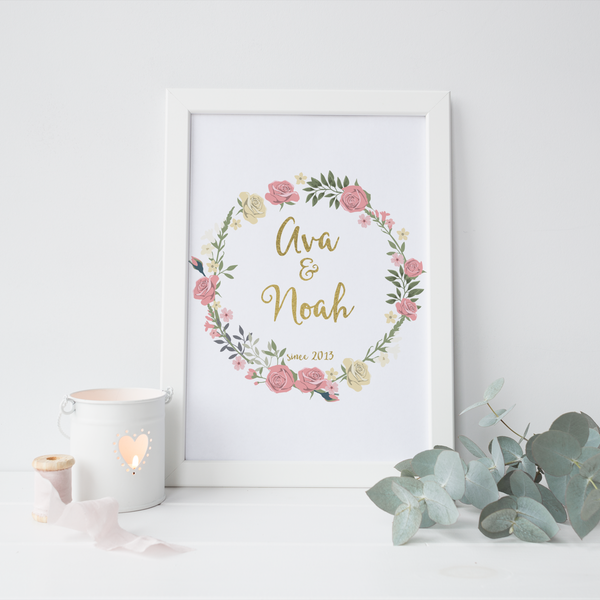 Personalised Love Wreath - PRINTS279