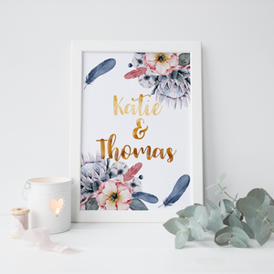 Personalised Floral Print - PRINTS279