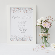 Load image into Gallery viewer, Personalised Love Dates - PRINTS279