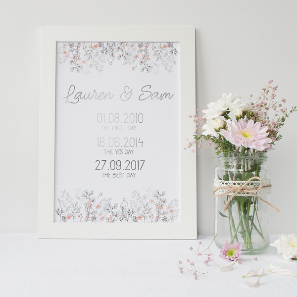 Personalised Love Dates - PRINTS279