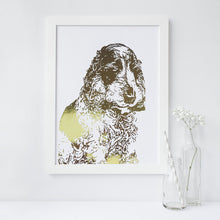 Load image into Gallery viewer, Personalised Pet Portrait Foil Photograph - PRINTS279