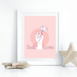 Self Love - Holding Flower