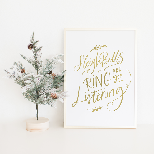 Sleigh Bells Rings Are You Listening - PRINTS279