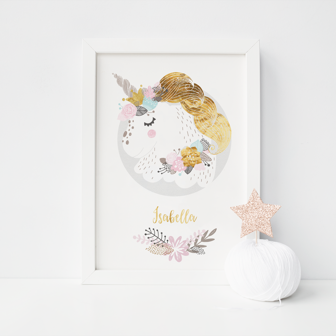 Unicorn Personalised - PRINTS279