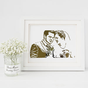 Personalised Wedding Portrait Foil Photograph - PRINTS279