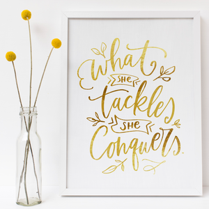 What She Tackles - PRINTS279