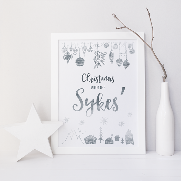 Personalised 'Christmas with the...' - PRINTS279