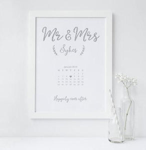 Mr and Mrs Calendar - PRINTS279