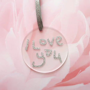 Personalised Handwriting - Glitter Acrylic Decoration Keepsake