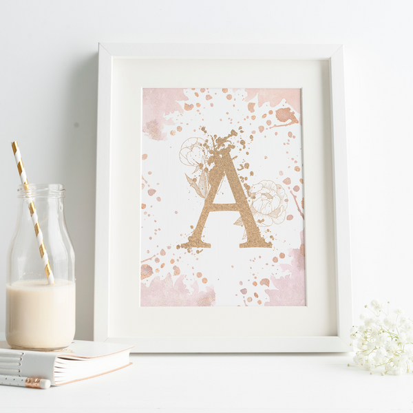 Personalised Letter Watercolour Paint Splash - PRINTS279