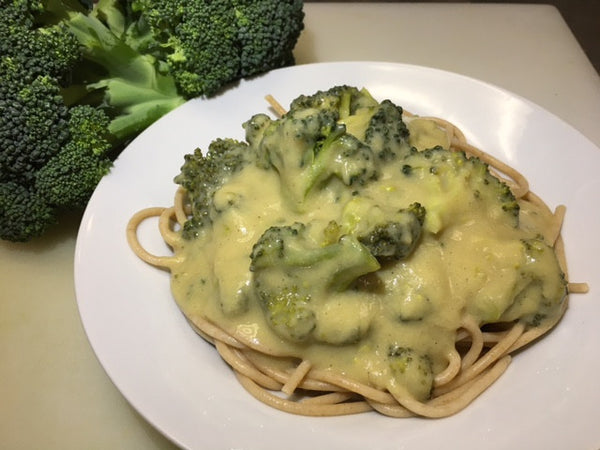 Cauliflower-Alfredo Spaghetti and Broccoli