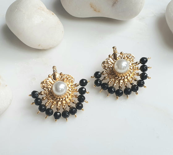Black shehzadeh Earrings