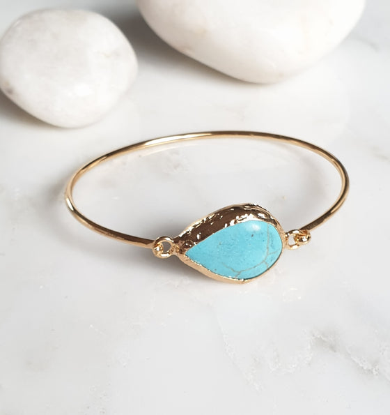 Teardrop Turquoise bangle