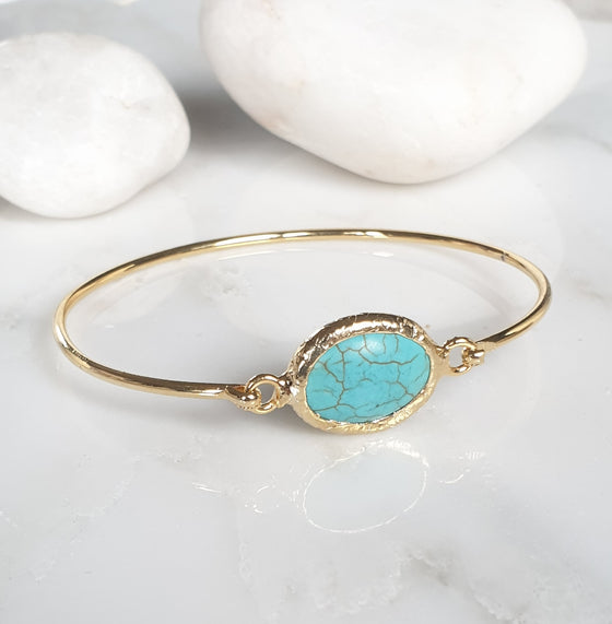 Oval Turquoise bangle