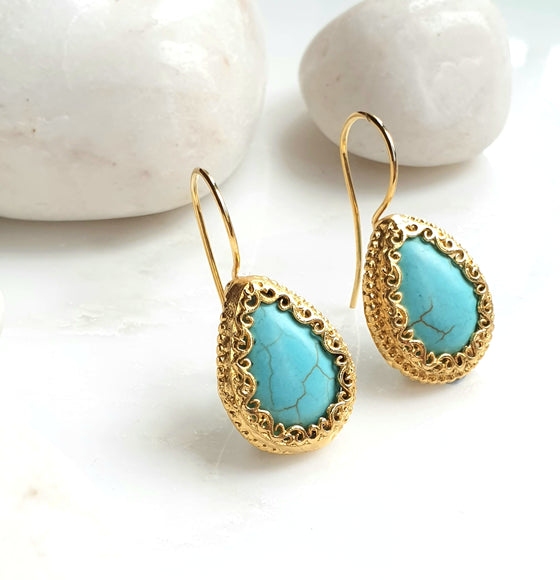 Turquoise Sevdeh Earrings