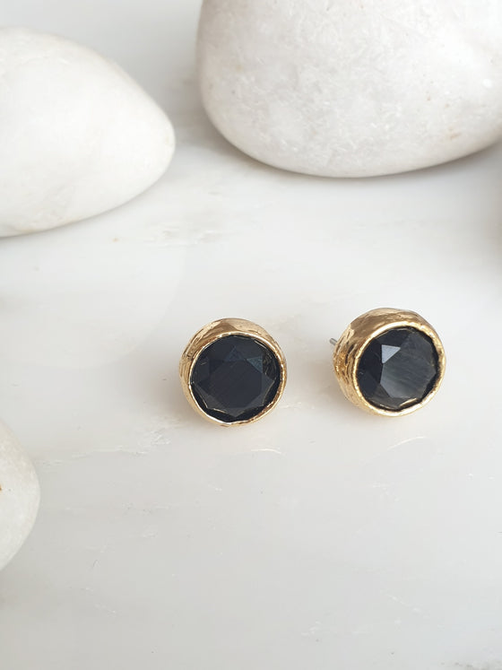 Black Cat's Eye Studs