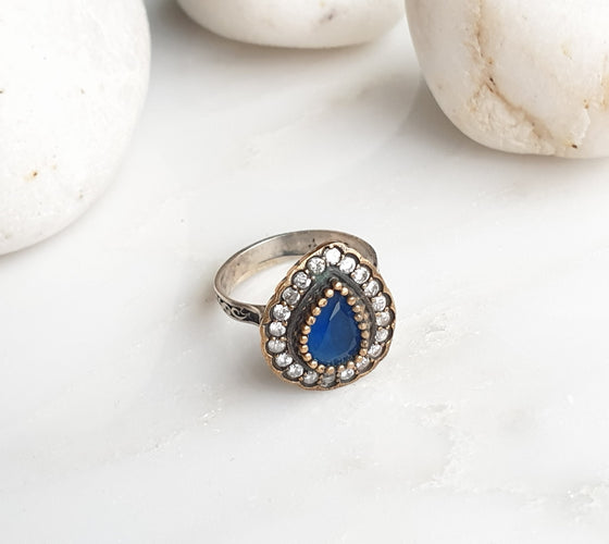 Hafizeh Blue 925 Silver Ring