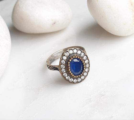 Safiyeh  Blue 925 Silver Ring