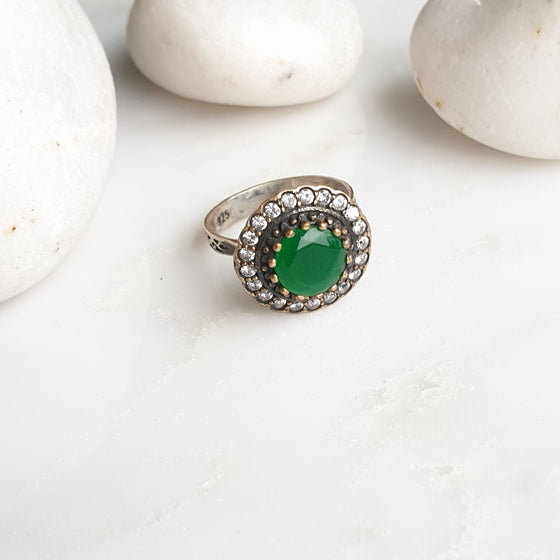 Sultanzadeh Green 925 Silver Ring