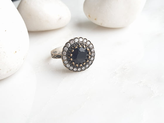 Sultanzadeh Black 925 Silver Ring