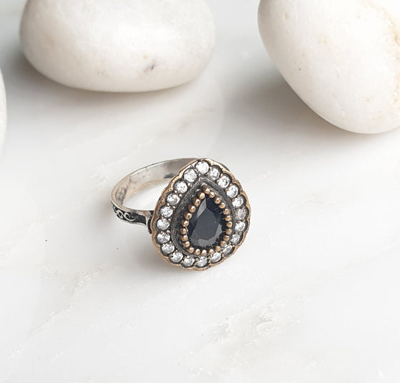 Hafizeh Black 925 Silver Ring