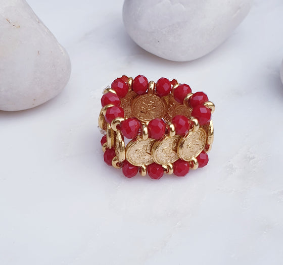 Red Coin Ring