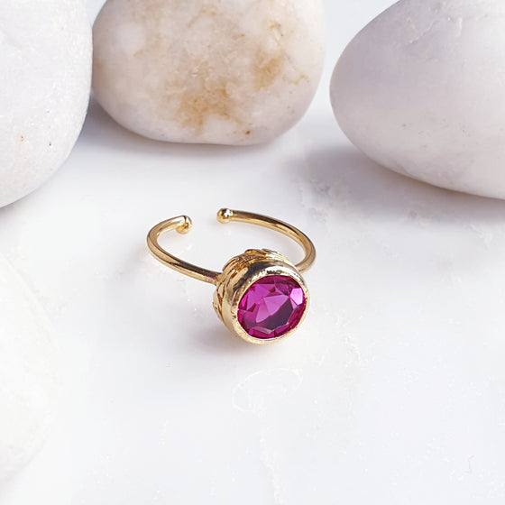 Stackable Round Pink  Ring