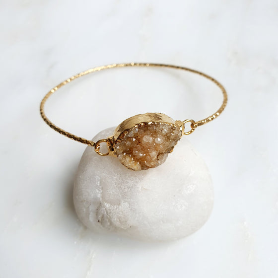 Brown Druzy Bangle