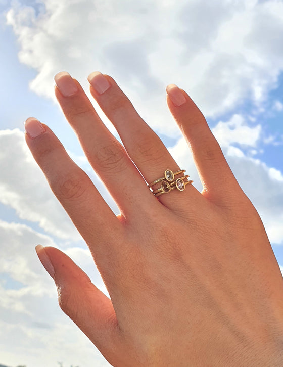 Stackable Small Peach Lens Ring