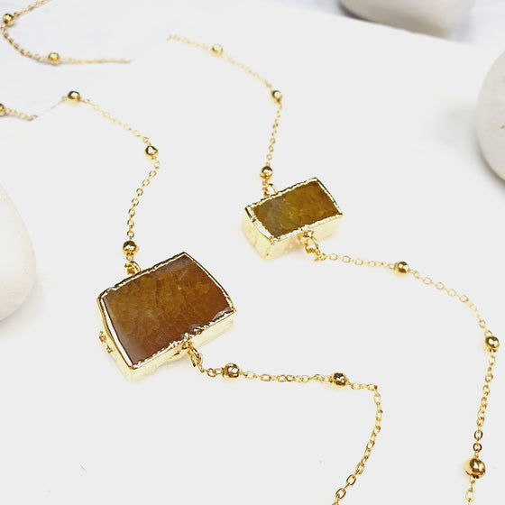 Multistone Agate chain necklace
