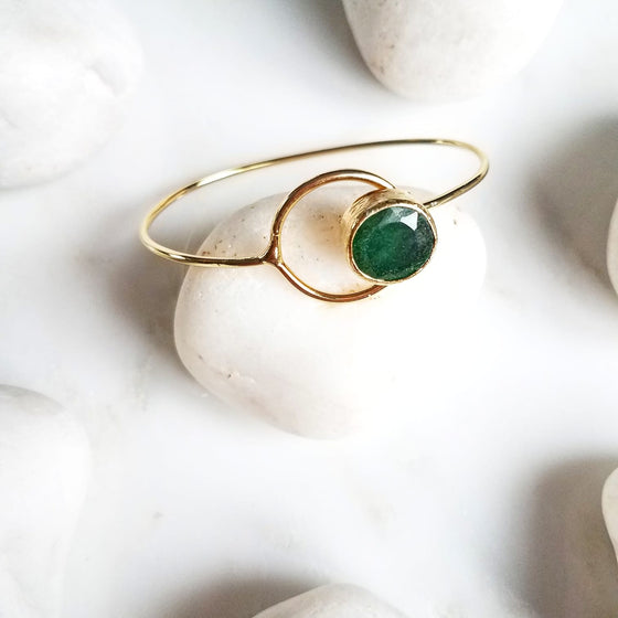 Emerald hooped bangle