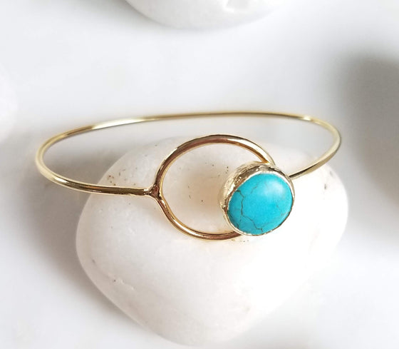 Turquoise Hooped Bangle