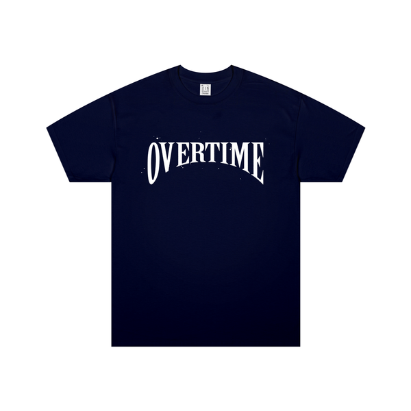 Navy Overtime Stamp Tee