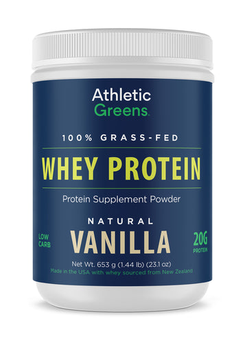 Athletic Greens 100% Grass-Fed Whey Protein - Vanilla