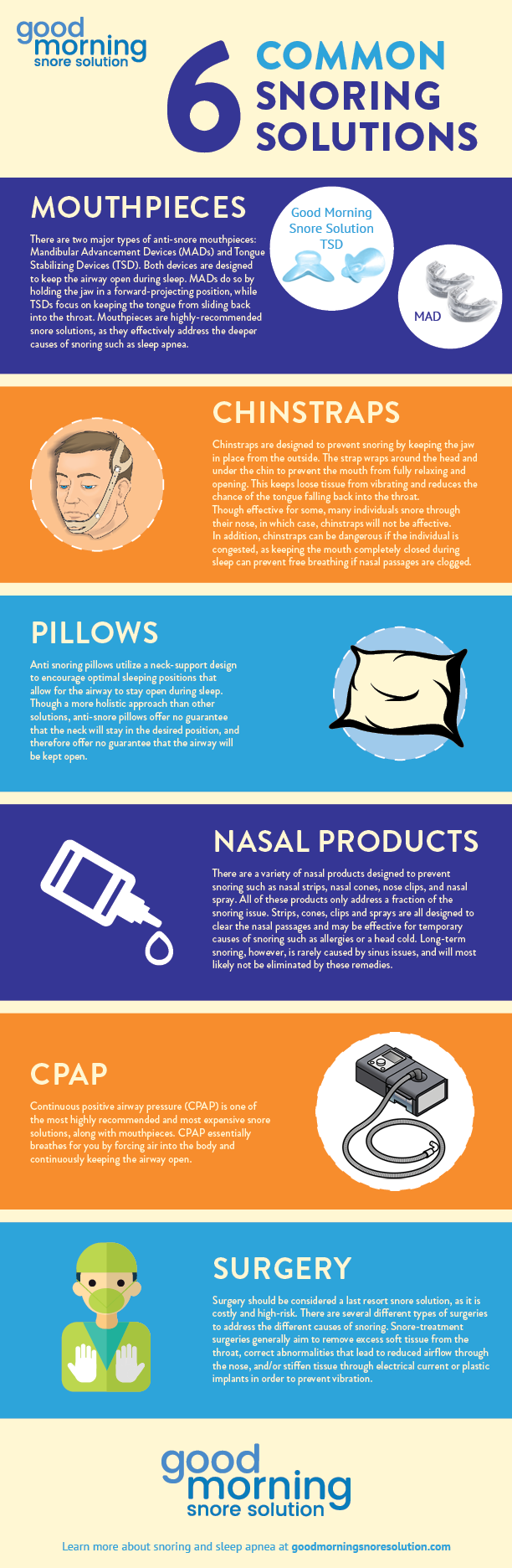 6 snoring solutions