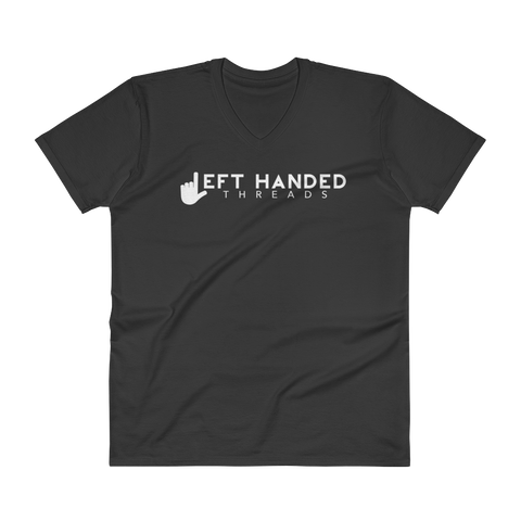 Left Handed Threads Logo V-Neck