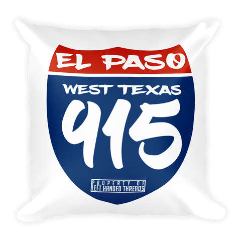 Highway 915 Square Pillow