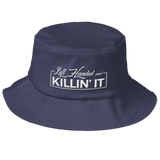 Left Handed & Killin' It Old School Bucket Hat