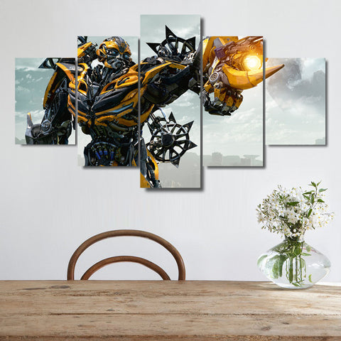 5 Pieces Canvas Art Transformers: The Last Knight