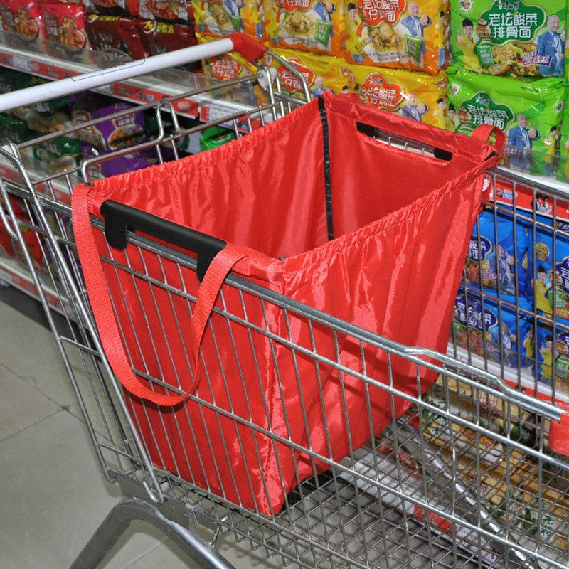 Reusable Cart-Gripping Grocery Bag