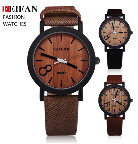 FEIFEN Men's Big-8 Woodface Watches: FREE SHIPPING