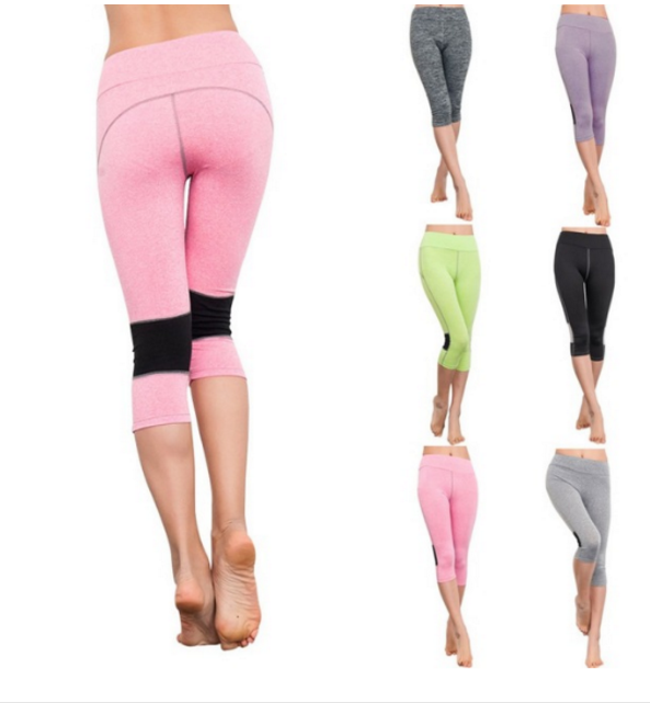 Yoga Capri Leggings Sport Pants High Waist
